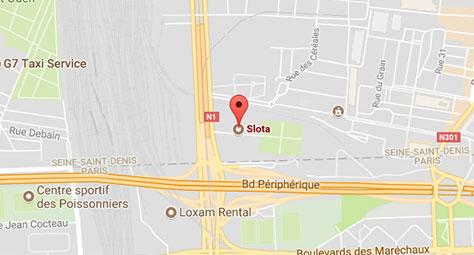 Localisation sur une Google Map de la société Slota