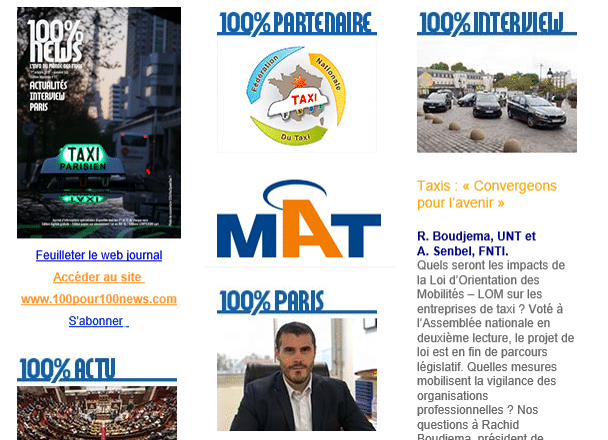 100% News Taxi - 1er octobre