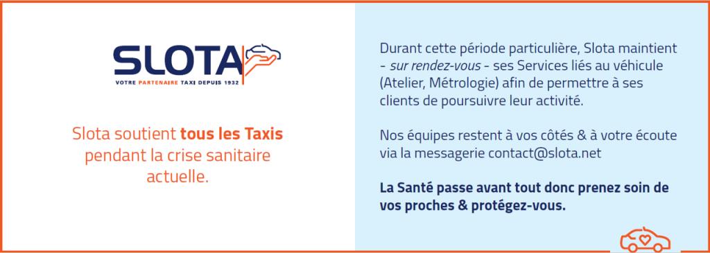 Votre partenaire Taxi durant la crise